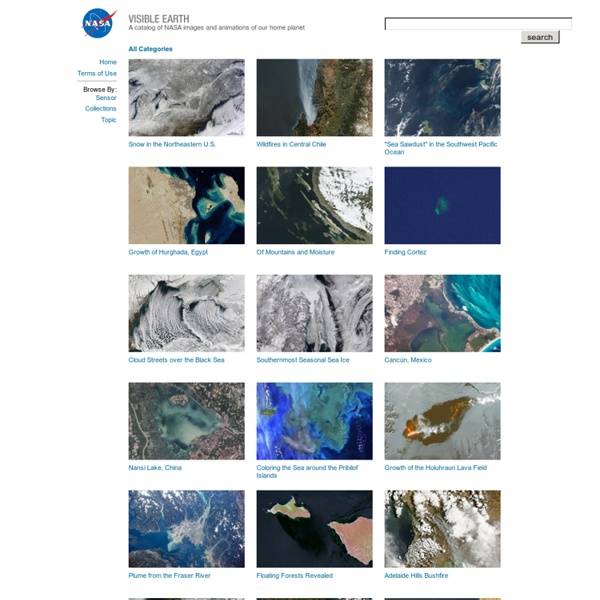 Visible Earth: Browse by Sensor