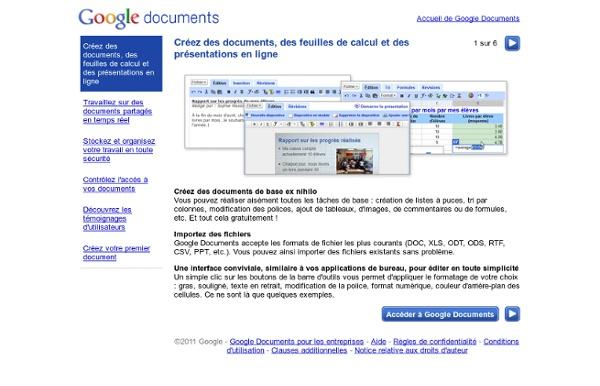 Visite guidée de Google Doc 5