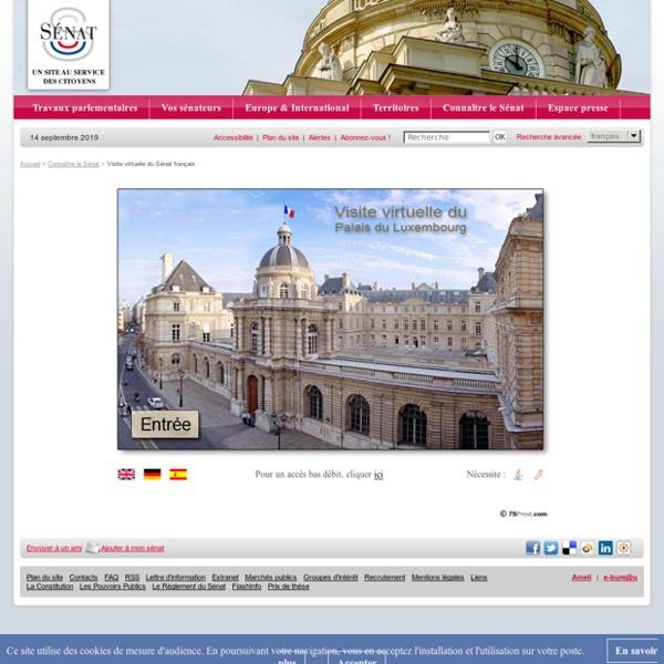 Visite virtuelle du Sénat français