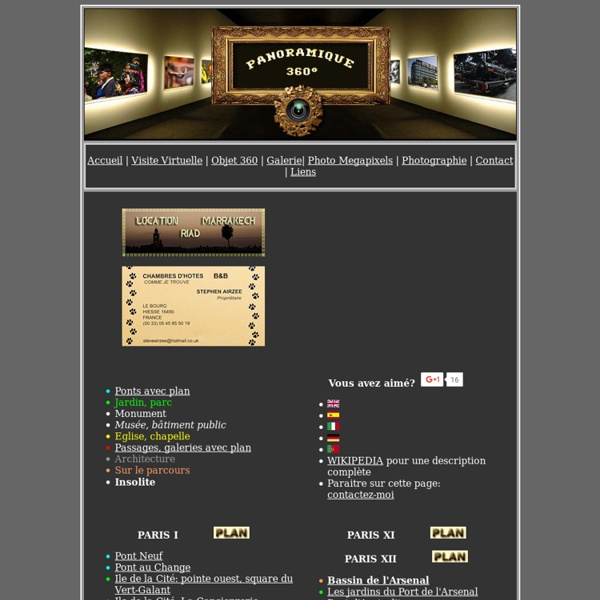 Visite virtuelle de Paris en panoramiques 360°