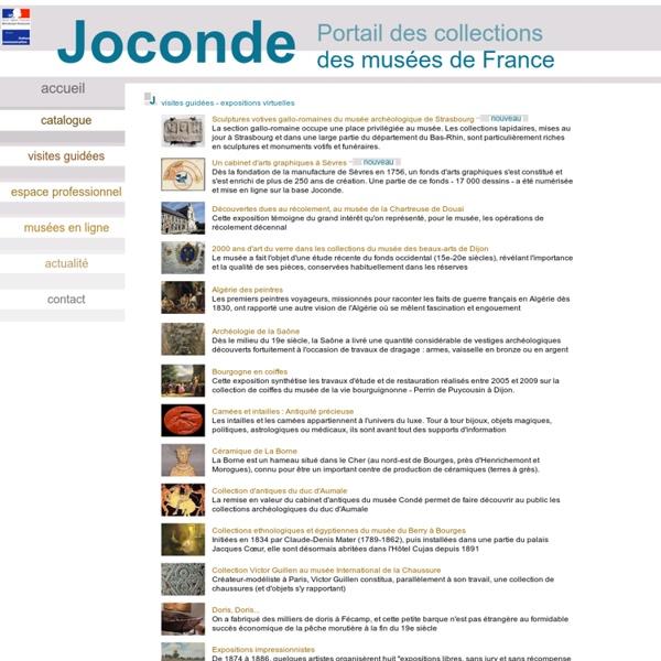 Joconde portail des collections des musées de france - expositions virtuelles