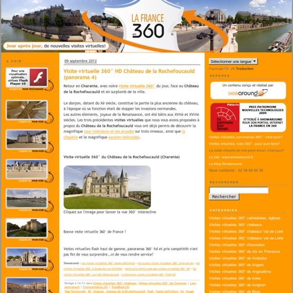 Visites virtuelles 360 et visites virtuelles flash HD de la France