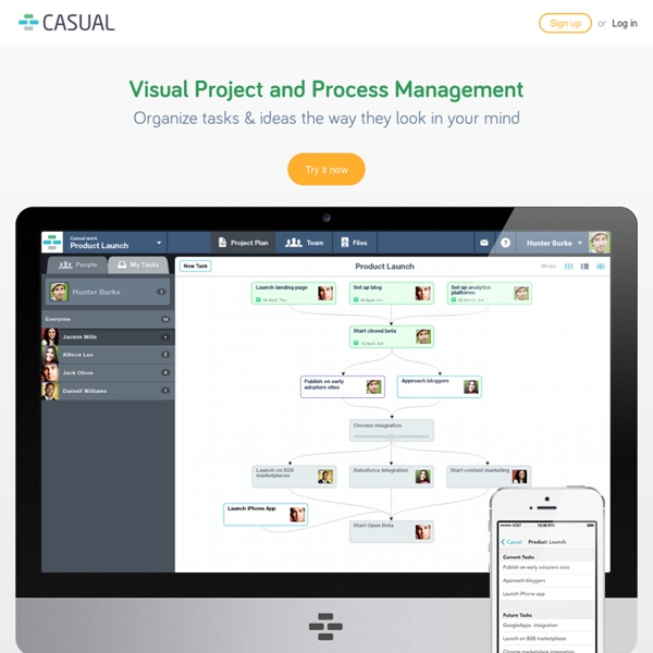 Casual — online project management with reusable project workflows