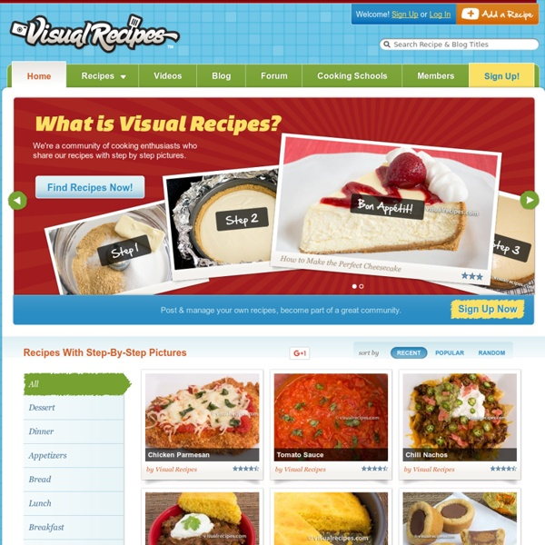Visual Recipes - Free Recipes with Step-by-Step Pictures