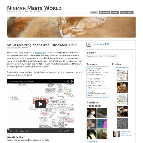 Visual recording on the iPad, illustrated – Ninmah Meets World