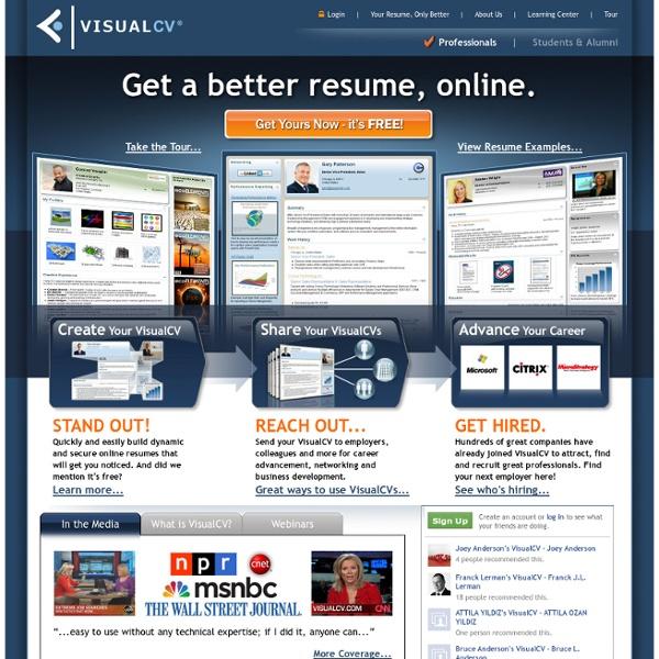 Get a better resume, online.