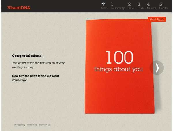 100 Things Personality Test - VisualDNA