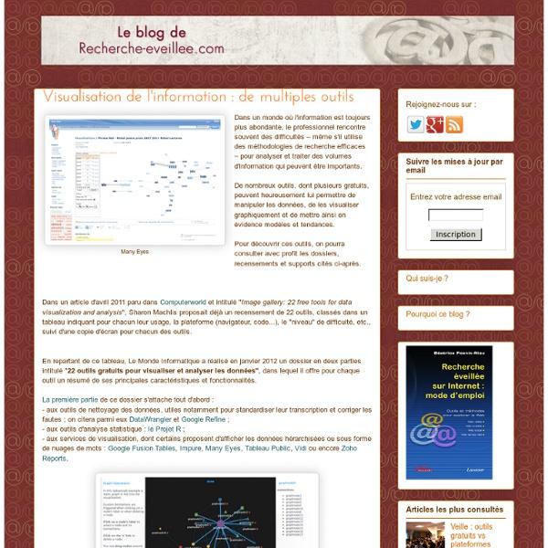 Visualisation de l'information : de multiples outils