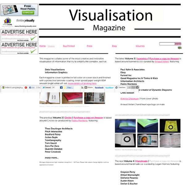 Collates the most creative and innovative visualisations of information