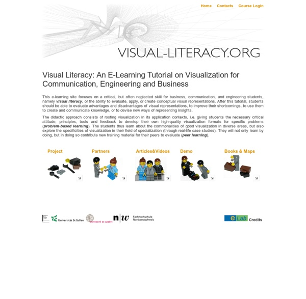Visual Literacy: An E-Learning Tutorial on Visualization for Communication, Engineering and Business