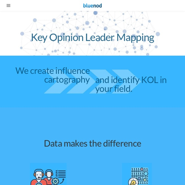 Bluenod: Twitter visualization to find influencers