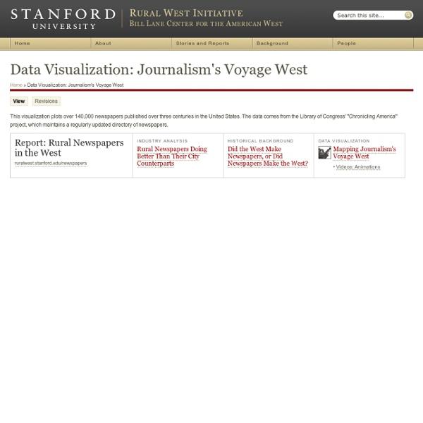 Data Visualization: Journalism's Voyage West
