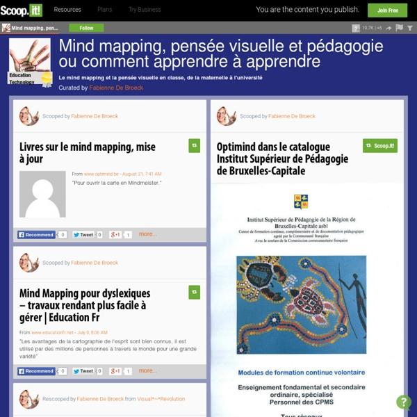 Mind mapping, pensée visuelle et pédagogie ou commentaire Apprendre à Apprendre