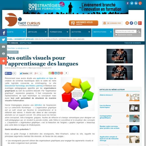 Des outils visuels pour l'apprentissage des langues
