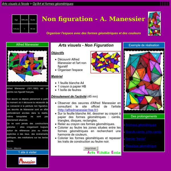Avec des formes géométriques, Alfred Manessier