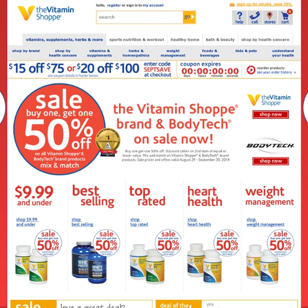 Nutritional Vitamin & Health Supplements, Herb & Herbal Remedies & Multi Vitamin Supplements - The Vitamin Shoppe