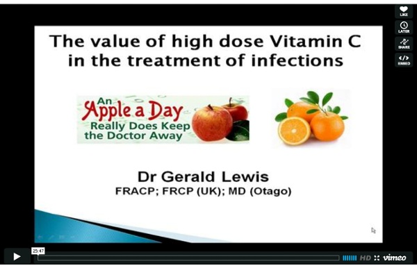 High dose Vitamin C to treat infections