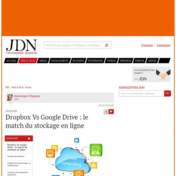Dropbox Vs Google Drive : le match du stockage en ligne - Web & Tech