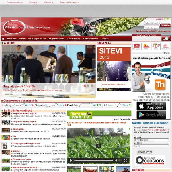 Viti-net : le quotidien viticole - Viti-net.com