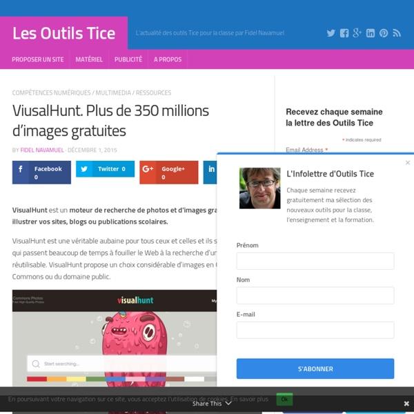 ViusalHunt. Plus de 350 millions d'images gratuites