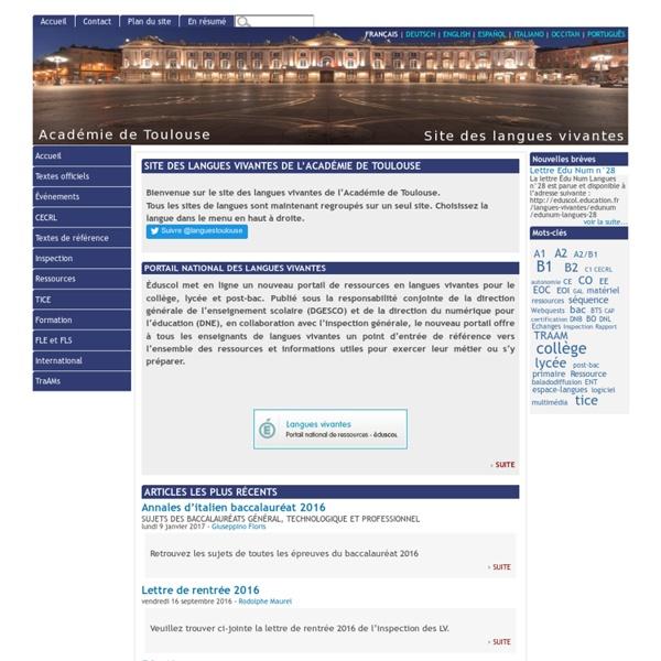 [Site des langues vivantes de l'Académie de Toulouse]