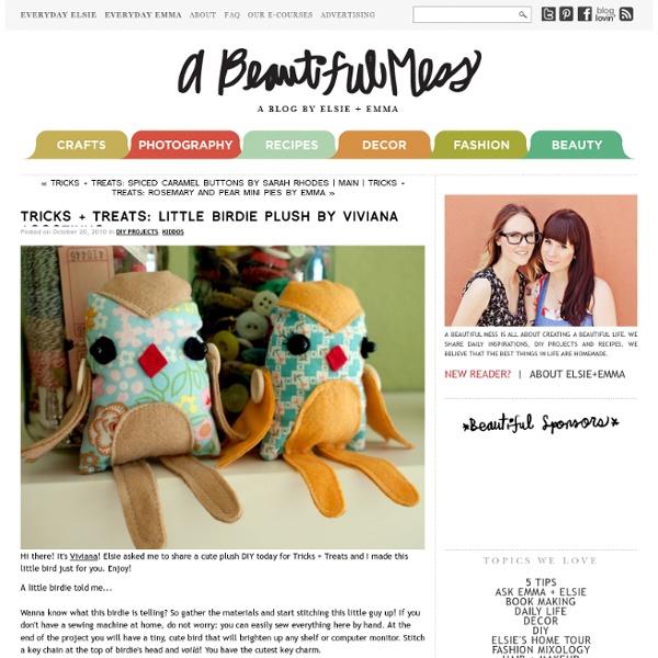 Tricks + Treats: Little Birdie Plush by Viviana Agostinho