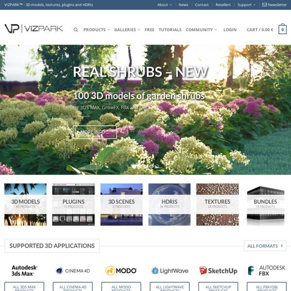 VIZPARK - 3D models, plugins, textures and HDRIs