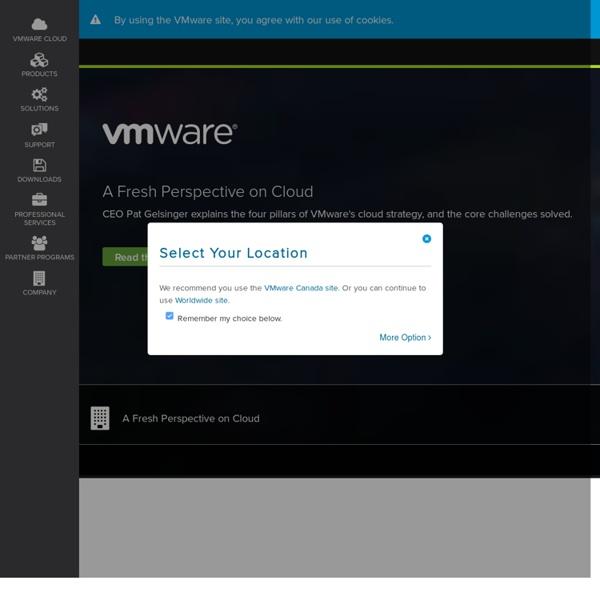 VMware Virtualization for Desktop & Server, Application, Public & Hybrid Clouds