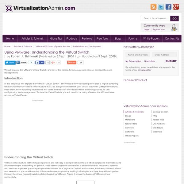Using VMware: Understanding the Virtual Switch