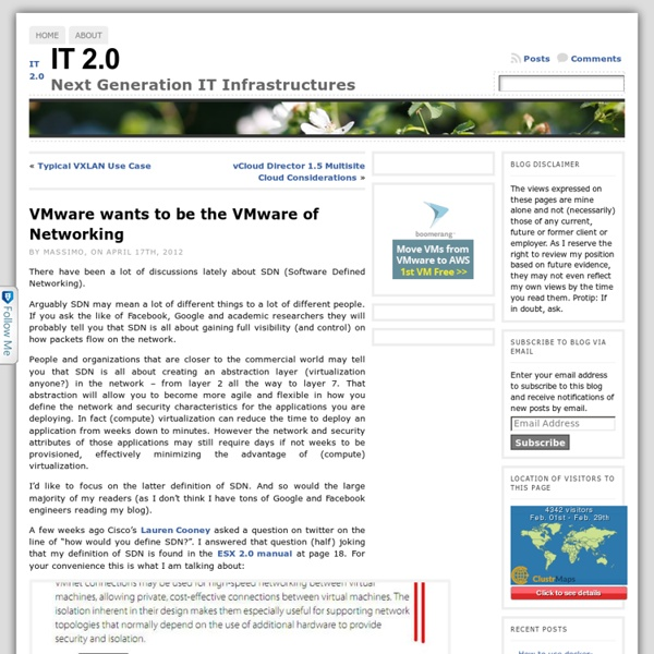 VMware wants to be the VMware of Networking « IT 2.0
