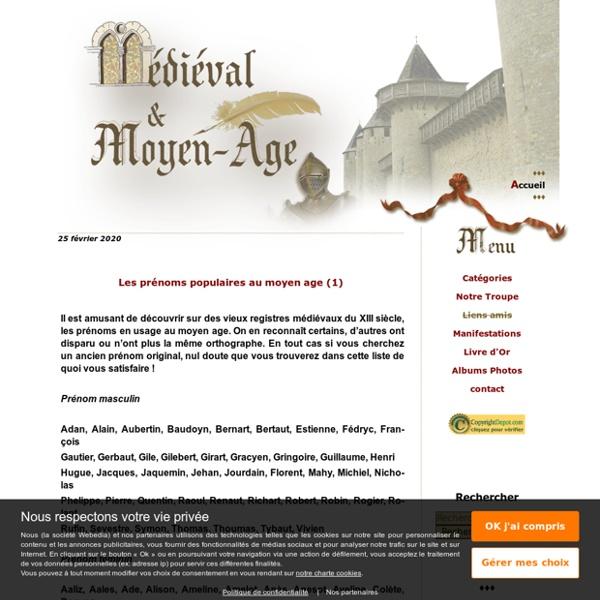 Medieval et Moyen Age