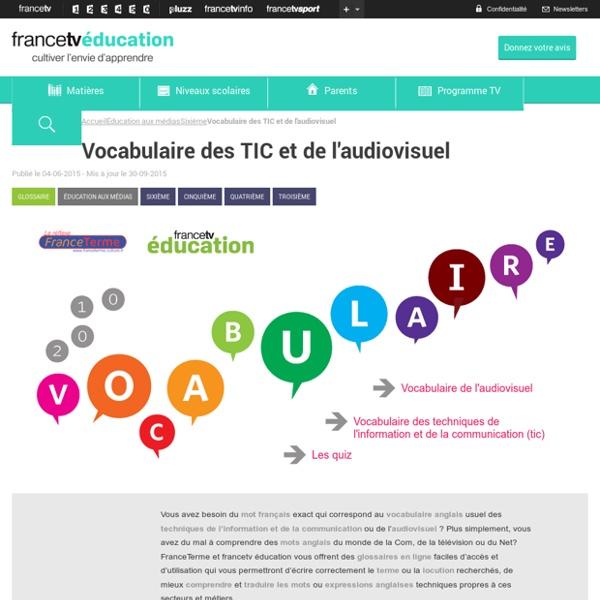 Vocabulaire des TIC et de l'audiovisuel