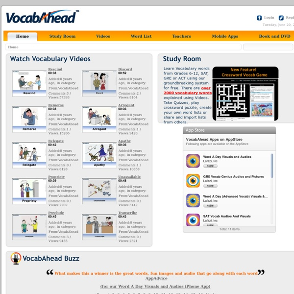 SAT Vocabulary Building for ACT SAT and GRE Preparation