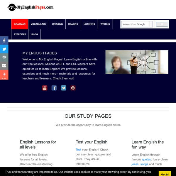 Learn English - Grammar, Vocabulary, Speaking, Exercises, Lessons.
