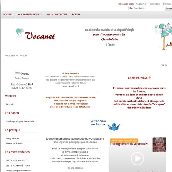 Vocanet - Accueil