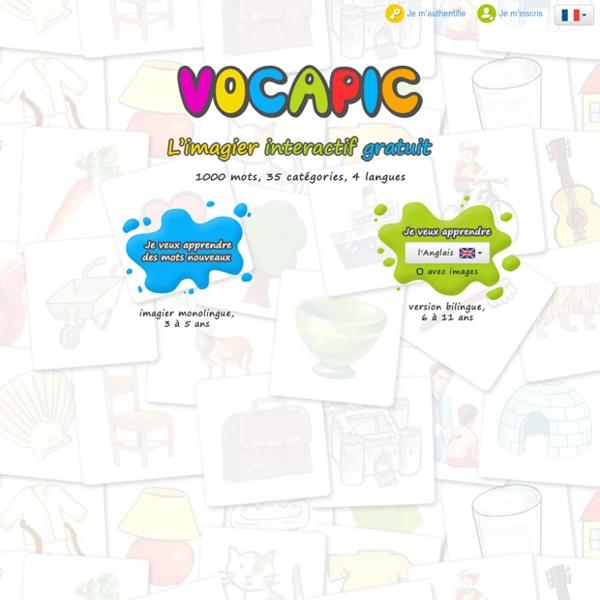 Vocapic, l'imagier interactif gratuit
