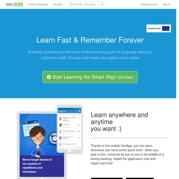 VocApp Flashcards - Optimize Your Learning