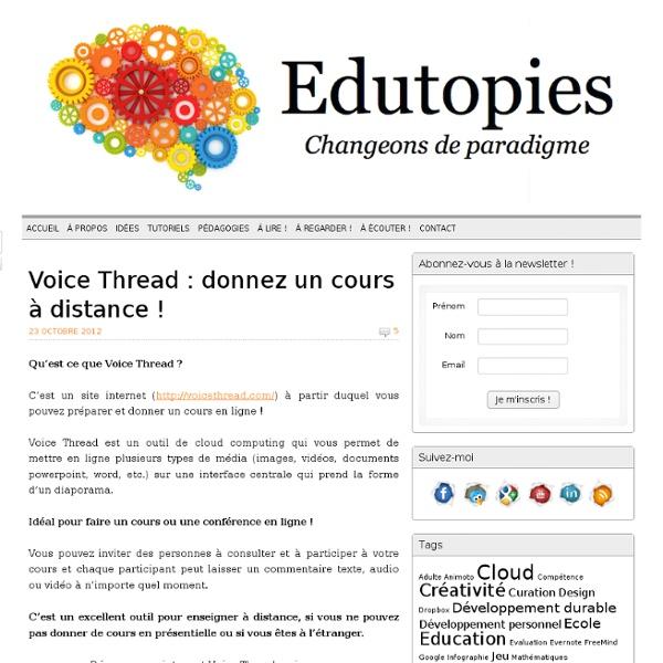 Voice Thread : donnez un cours à distance !