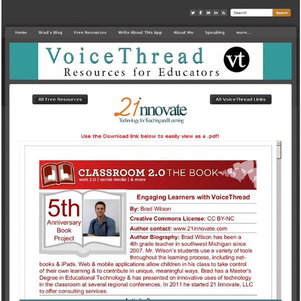 Engaging Learners with VoiceThread in the Classroom 2.0 Book - Technology for Teaching and Learning