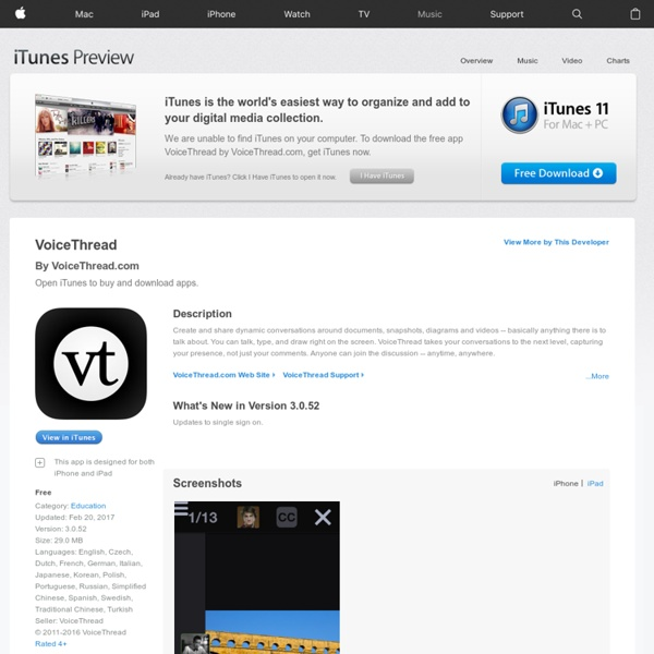 VoiceThread (app and web)
