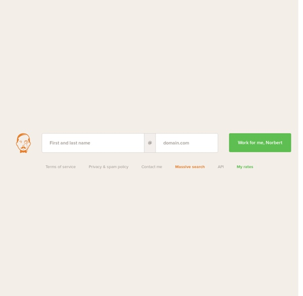 Norbert — Find anyone email address