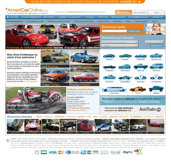 AmeriCarOnline - Voitures américaines neuves et d'occasion, véhicules US de c...