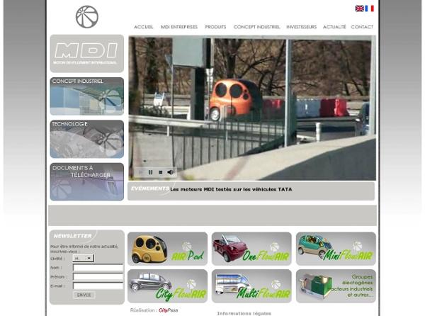 SA - Voitures à air comprimé Flowair - Véhicules propres - Technologie durable.