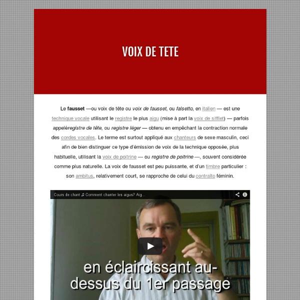 VOIX DE TETE