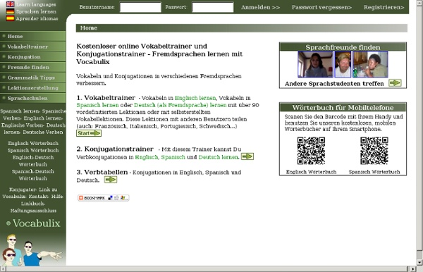 Vokabeltrainer online englisch lernen gratis spanisch lernen pearltrees for Vokabeltrainer englisch