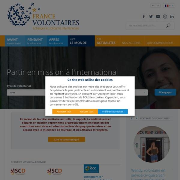 France Volontaires, association des volontaires du progrès : volontariats internationaux d'échange et de solidarité