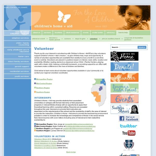 How to Help - Volunteer Opportunities - Children's Home + Aid