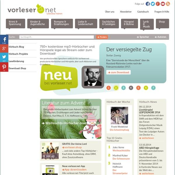 Kostenlos mp3-Hörbücher downloaden - Hörbuch zum mp3-Download - gratis!