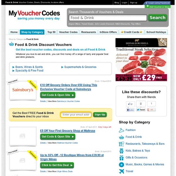 Food Vouchers & Food Discount Vouchers