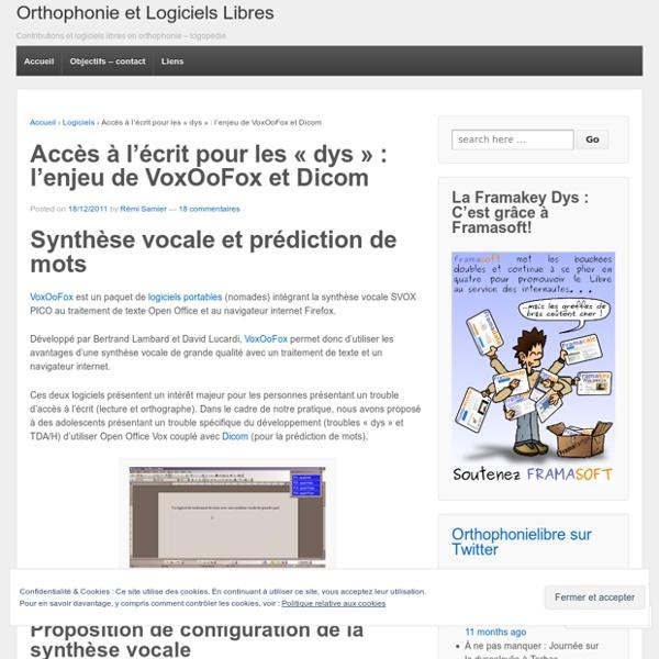 """Accès à l'écrit pour les """"dys"""" : l'enjeu de VoxOoFox et Dicom"""